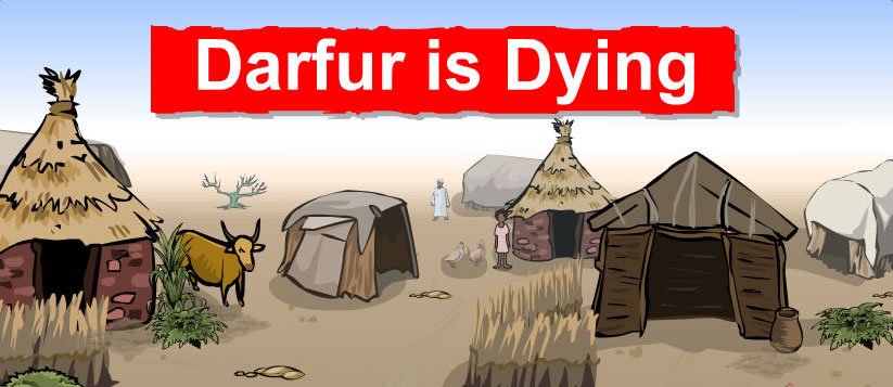 Dalfur is dying - illustration of desolate village