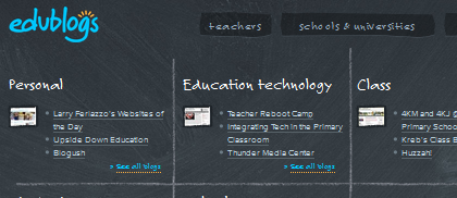 Edublogs community website