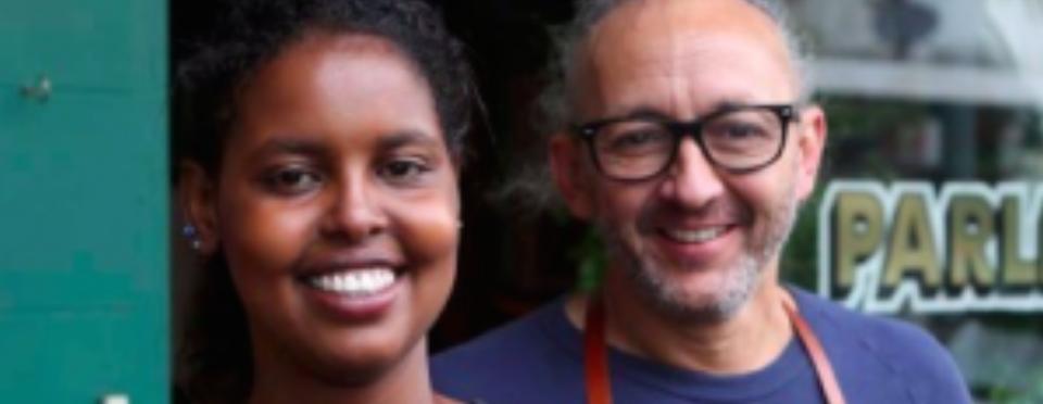 Hani Abdile and Ravi Prasad from Sydney café Parliament on King