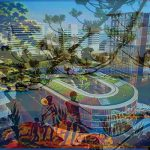 Old images of school overlaid with new