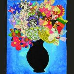 Colourful flowers in a vase