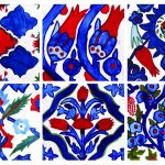 Painting of turkish tiles